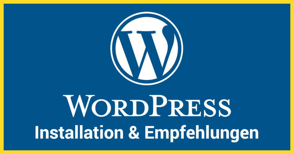 Mit WordPress Homepage/Webseite/Blog erstellen